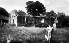 The ruins from the graveyard