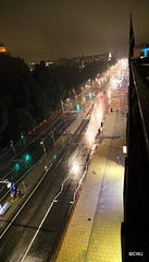 Princes Street on a rainy evening