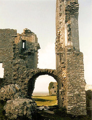 England-Reise im März 1989: The  Ruins of Corfe Castle