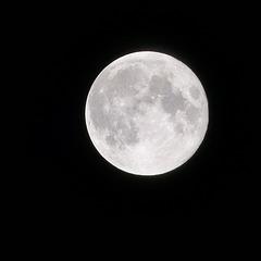 Super lune à Angers