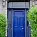 Old blue front door