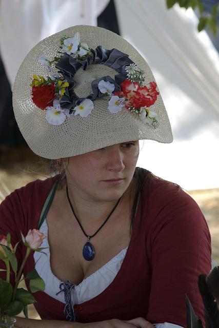 Chapeau fleuri - Floral hat