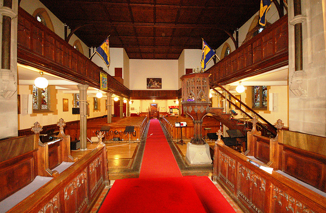Christ Church, New Mill, West Yorkshire (interior looking west)