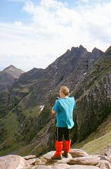 Bill Hart  looking out over Toll An Lochain, An Teallach 25th June 1999