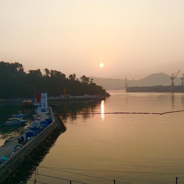 Sunrise over Okpo Bay
