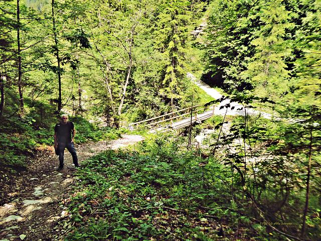 Aufstieg zur Kaindl-Hütte, im Kaiser, Tirol, Austria