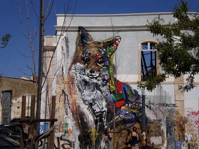 Fox, by Bordalo II.