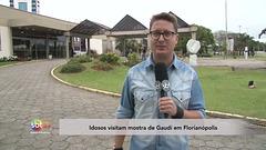 SBT Meio-Dia 2016-10-06 Idosos visitam mostra de Gaudí em Florianópolis
