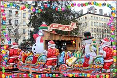 Lyon (69) 19 décembre 2017. Sur le marché de Noël...