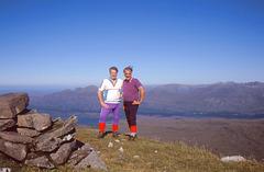 Bill Hart & Alan Drury at Summit of Beinn an Eoin 14th May 1998