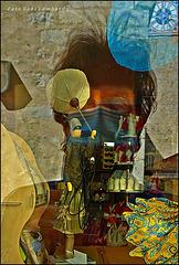 looking in a shop window