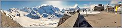 Zermatt : Il Monte Rosa e il Cervino dall'osservatorio Gornergrat