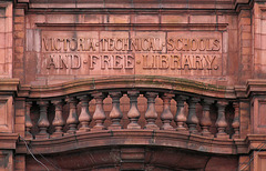 Middlewich Technical School and Free Library - detail