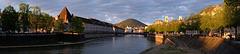 BESANCON: Panoramique des quais Vauban et Strasbourg.