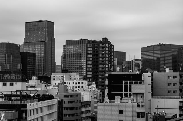 Buildings in downtown Tokyo
