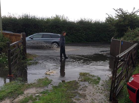 Summer flood on Hayling Island