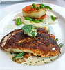 Blackened Snapper with Corn Spoon Bread and Jalapeno Corn Tarta; Chilean Sea Bass with Champagne Truffle Sauce -  Ocean Prime 062417