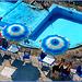 Genova Quarto : Quattro ombrelloni gemelli - piscina svuotata causa mareggiata