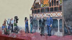 BEAUNE: Trompe-l'oeil '' La grande vadrouille'' 01