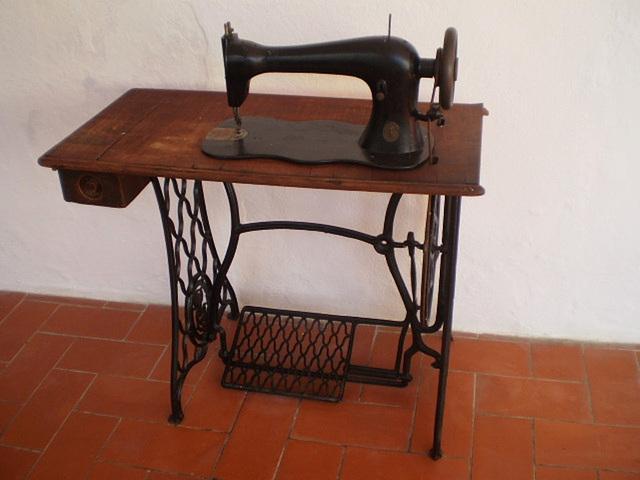 Old Singer sewing machine.