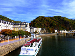 DE - Bad Ems - View from a bridge across the Lahn