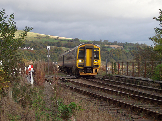 158707 approaches Dingwall Junction