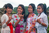 Four beauties in Penglipuran