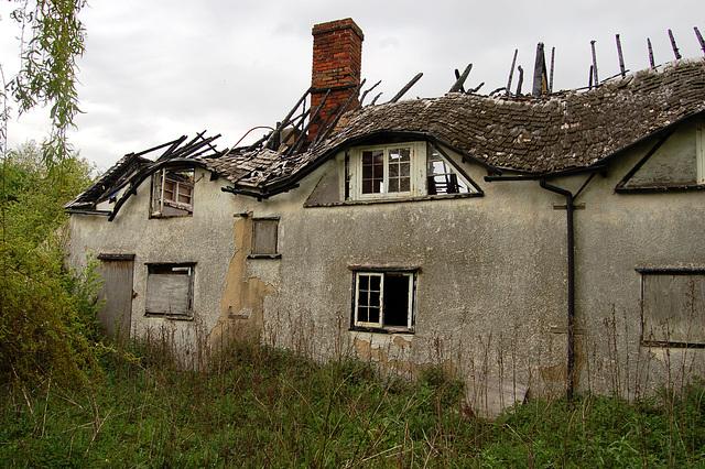 Derelict Cottage near Stanstead Airport, Essex