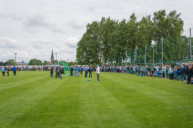 Sportplatz am Neubauernweg, Trainingsauftakt des CFC 2015