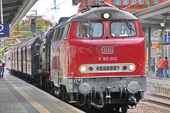 DB V 160 002 und DB 78 468 in Schwerin