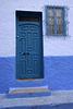 Blue door  with panels