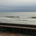 Sur la digue à marée haute