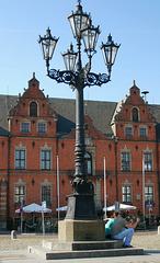 Kandelaber am Markt in Glückstadt...
