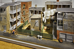 Diorama of an Iconic Montreal Alleyway – Centre d'histoire de Montréal, Place d'Youville, Montréal, Québec, Canada