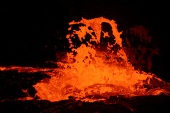 Bubbling Lava Shooting Dozens of Metres