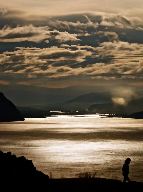 Kamloops Lake - Evening shot.