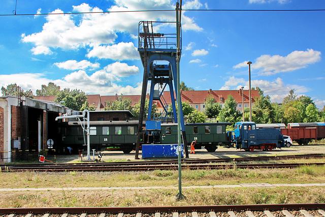 Schwerin, Rangierfahrt im Eisenbahnmuseum