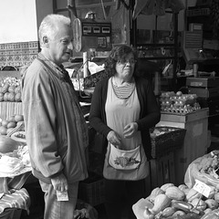 Happy people at Funchal Workers' Market