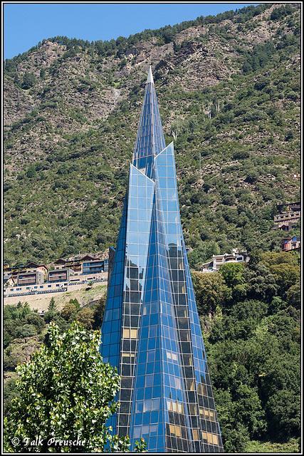 Kirchturmspitze in Andorra