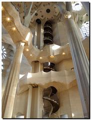 Barcelona - Sagrada Familia interior - Stairs