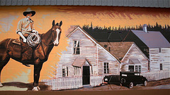Mural in 100 Mile House, BC