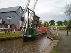 Boat passing on the canal.