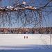 Promeneurs sur le lac d'Argent
