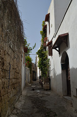 In the Maze of Narrow Streets of the Old Town of Rhodes