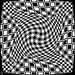 Inspired by '4 globes in red' by Victor Vasarely in 1980 - 3 6 2020 mono twirled