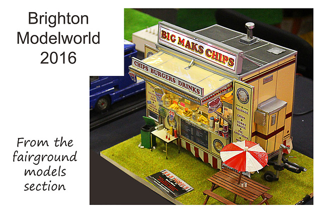 Brighton Modelworld 2016 burger van from the fairground displays
