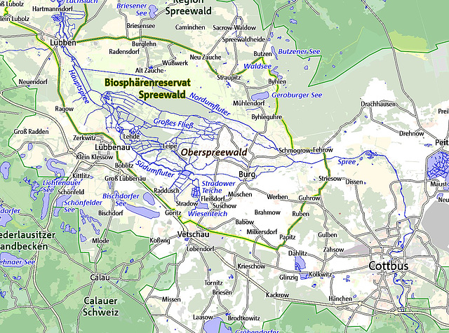 Karte Spreewald Lubbenau.Ipernity Spreewald By C Udosm