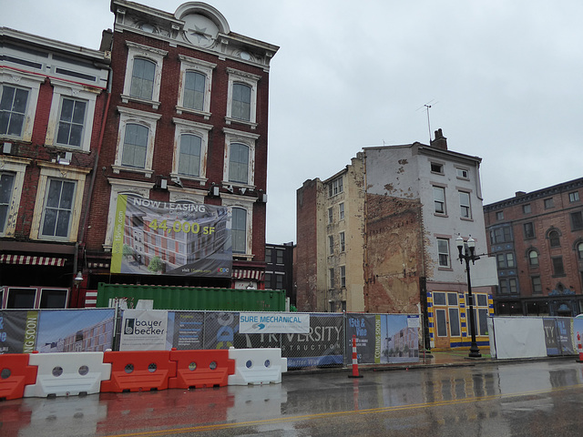 Over-the-Rhine on a rainy day - 15th and Vine
