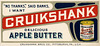 Cruikshank Apple Butter Blotter, Pittsburgh, Pa.