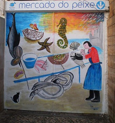 Fish market doors.